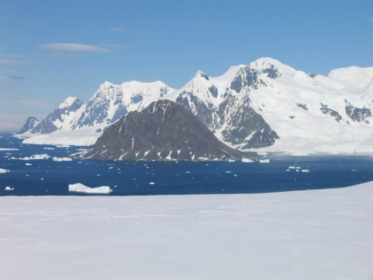 Francis Peak view from Rothera Station